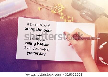 Ontem não o melhor motivacional fundo Foto stock © maxmitzu