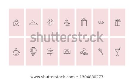 Mode icon elegante roze ontwerp Stockfoto © odina222