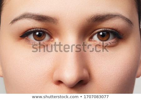 Güzel doğal kız sevimli kahverengi gözleri kadın Stok fotoğraf © racoolstudio