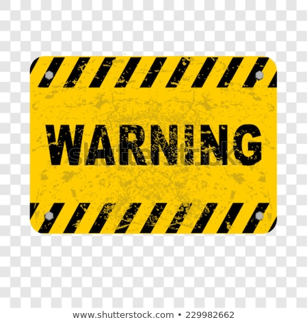 grunge vector background with warning signs stock photo © voysla