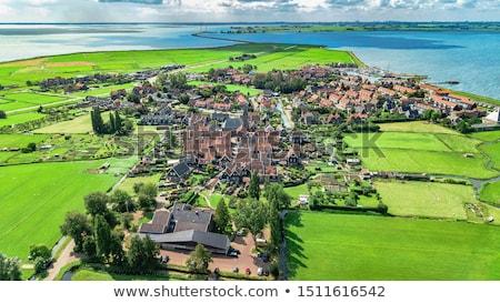 Historique île Pays-Bas au-dessus bâtiment bois Photo stock © gigra
