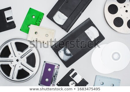 Vintage cinematography reel film on disc Stock photo © LoopAll