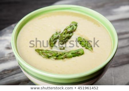 Frescos espárragos sopa cebollino cena color Foto stock © raphotos
