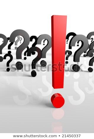 3D points d'interrogation une point d'exclamation aider informations Photo stock © designers