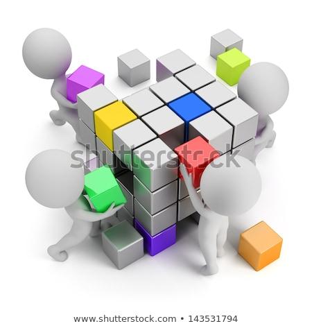 3D небольшой люди Бизнес-сеть бизнесменов Постоянный Сток-фото © AnatolyM