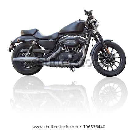 Foto stock: Motocicleta · isolado · branco · estrada · projeto · bicicleta