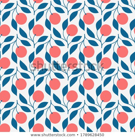seamless pattern with fruits and berries stock photo © boroda