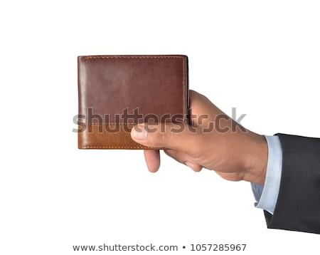 открытых · зеленый · кожа · бумажник · кредитные · карты · бизнеса - Сток-фото © natika