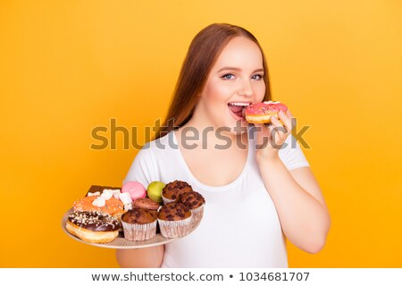 Close up of happy fatty woman Stock photo © Witthaya