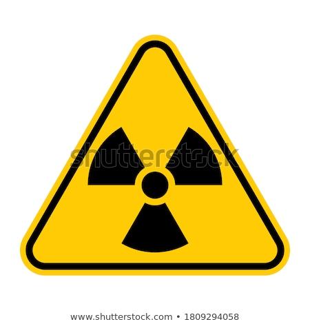 знак радиоактивность радиоактивный опасность металл сетке Сток-фото © lemonti