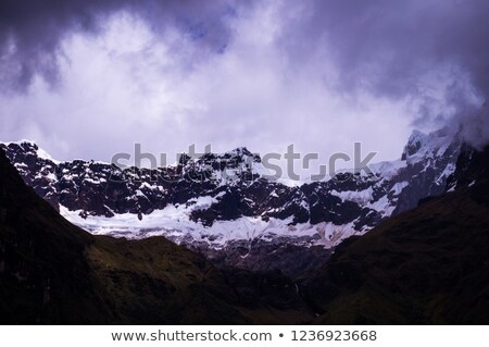 Hills Covered by Clouds at Banos, Ecuador Stock photo © ildi