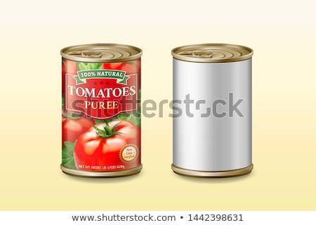 dobozos · paradicsomok · marinált · fűszer · fehér · étel - stock fotó © yelenayemchuk