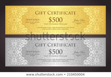 luxury golden and silver gift certificate in vintage style stock photo © liliwhite