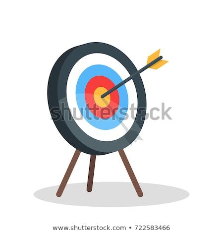 éxito flechas rojo objetivo tres Foto stock © tashatuvango