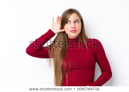 Young Woman listening to gossip Stock photo © Aitormmfoto