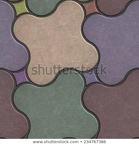 Multicolor Paving Stone as Quatrefoil. Stock photo © tashatuvango