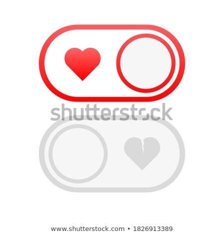 Pareja amor bombilla rosa círculo vector Foto stock © vectorikart