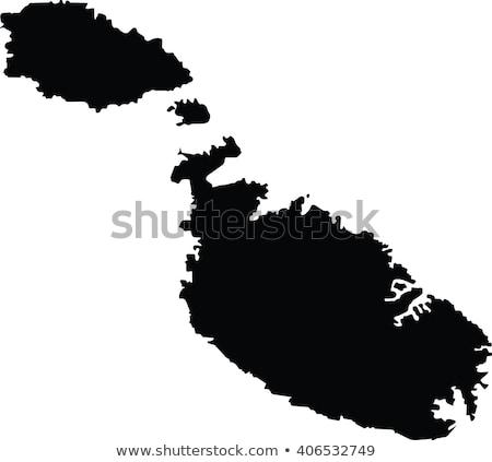 Foto stock: Mapa · Malta · diferente · colores · blanco · fondo