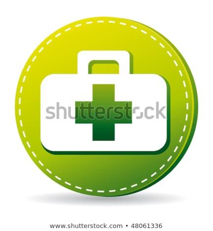 health kit green vector icon button stock photo © rizwanali3d