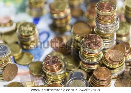 tower of different euro coins in close up shot stock photo © gewoldi