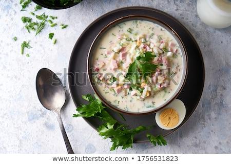 hagyományos · orosz · leves · zöldségek · ital · tányér - stock fotó © mikhail_ulyannik