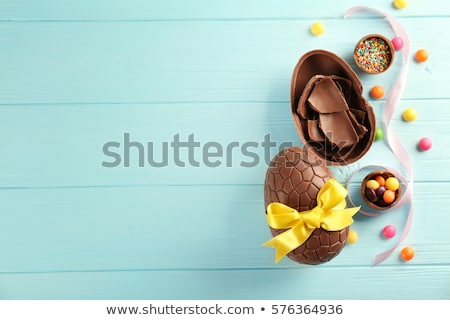 Páscoa · Primavera · crianças · ovo · azul · diversao - foto stock © m-studio