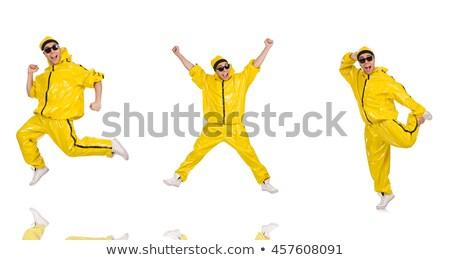 hip · hop · dansçı · genç · atlamak · siluetleri · gri - stok fotoğraf © wavebreak_media