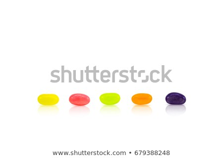 a line of jelly beans over white stock photo © lucielang