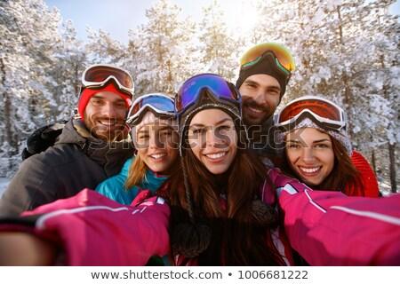 женщины лыжник Lady горные Сток-фото © kasto