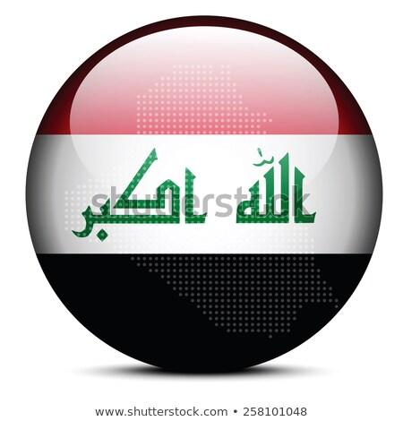 Kaart patroon vlag knop Irak Stockfoto © Istanbul2009