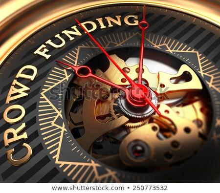 Crowd Funding on Black-Golden Watch Face.  Stock photo © tashatuvango