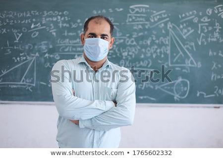Kıdemli erkek öğretmen öğretim matematik sevimli Stok fotoğraf © lightpoet