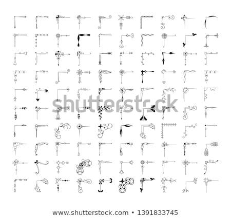 einfache · Vektor · Ecke · Design · Muster · Zeichnung - stock foto © Mr_Vector
