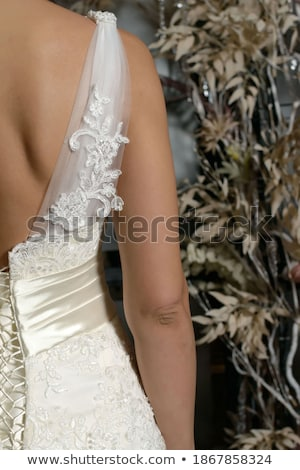 Mooie vrouw korset patroon zwarte Stockfoto © Elisanth