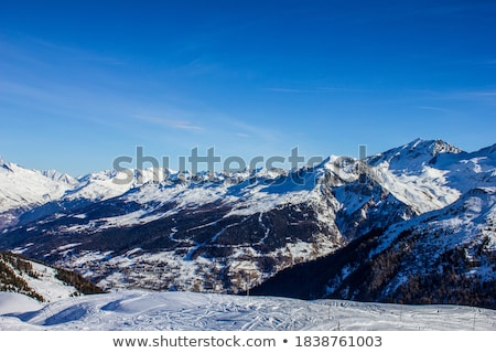 panorama of the ski resort village of la plagne Stock photo © chrisga