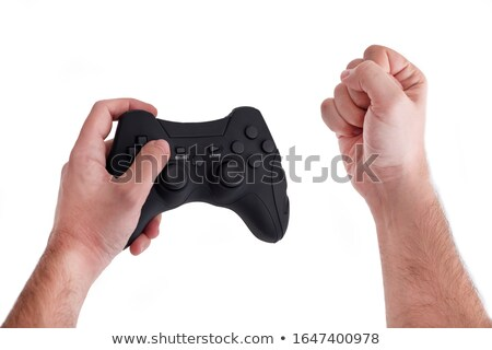 anger controller on black console stock photo © tashatuvango