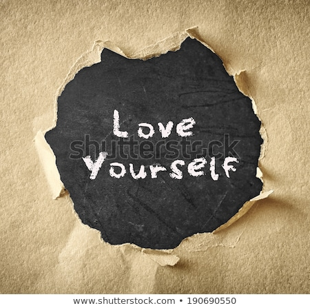 love yourself torn paper stock photo © ivelin