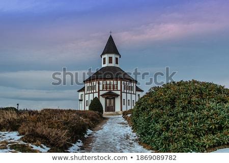 wooden church in small villages czech republic stock photo © capturelight