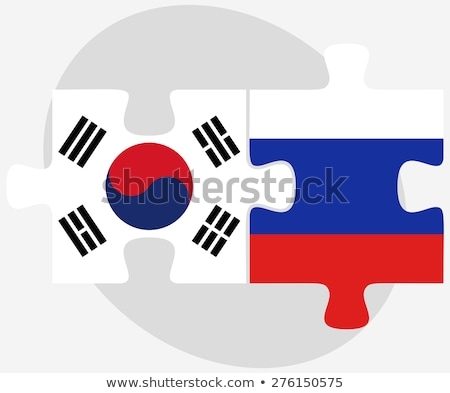 South Korea and Russian Federation in puzzle Stock photo © Istanbul2009