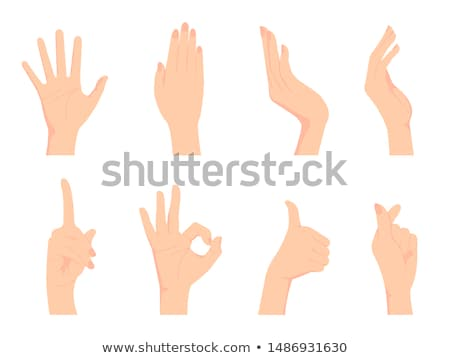 woman silhouette with hand gesture hands-up Stock photo © Istanbul2009