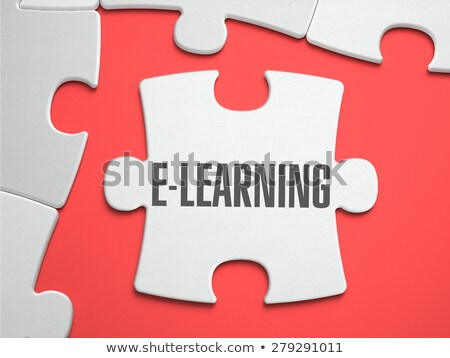 E-Learning - Puzzle on the Place of Missing Pieces. Stock photo © tashatuvango