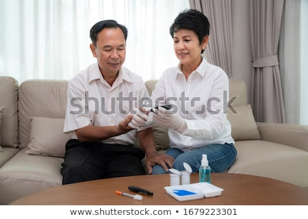 Senior Man's Hyperglicemia Stock photo © barabasa