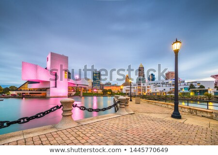 Cleveland. Image of Cleveland downtown at night Stock photo © alex_grichenko