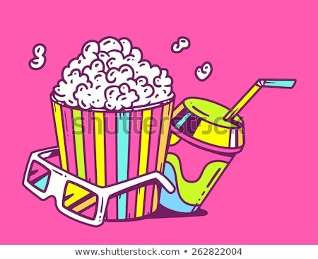 popcorn · finestra · dettagliato · isolato · bianco · eps10 - foto d'archivio © loopall