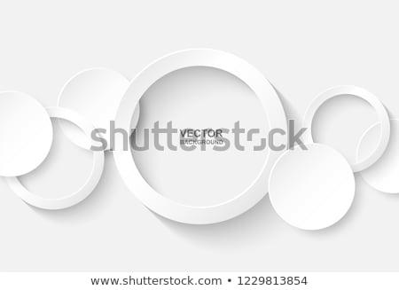 witte · cirkels · opties · banner · ontwerp - stockfoto © jiunnn