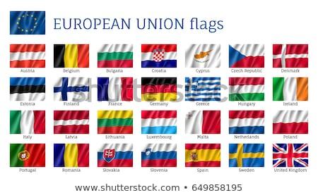 Bandiera Slovacchia isolato bianco Foto d'archivio © 5xinc