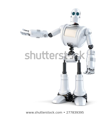 Robot presenting an invisible object. Isolated. Contains clipping path Stock photo © Kirill_M