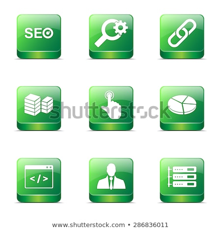 seo internet sign square vector green icon design set 11 stock photo © rizwanali3d
