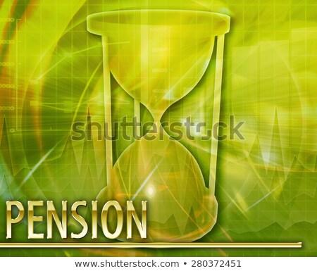 пенсия · плана · аннотация · Цифровая · иллюстрация · цифровой · коллаж - Сток-фото © kgtoh