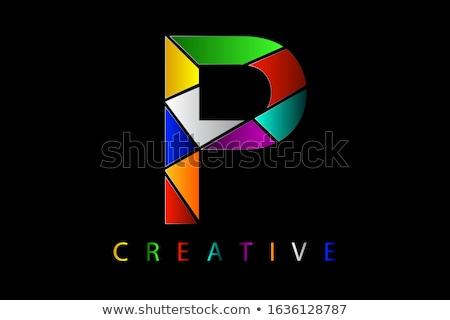 Establecer roto lápices resumen logo pintura Foto stock © shawlinmohd